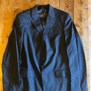 Kenneth Cole New York Wool Pinstripe Suit Mens 42L